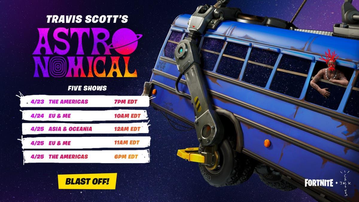 Fortnite y Travis Scott presentan Astronomical, un evento de conciertos único y exclusivo