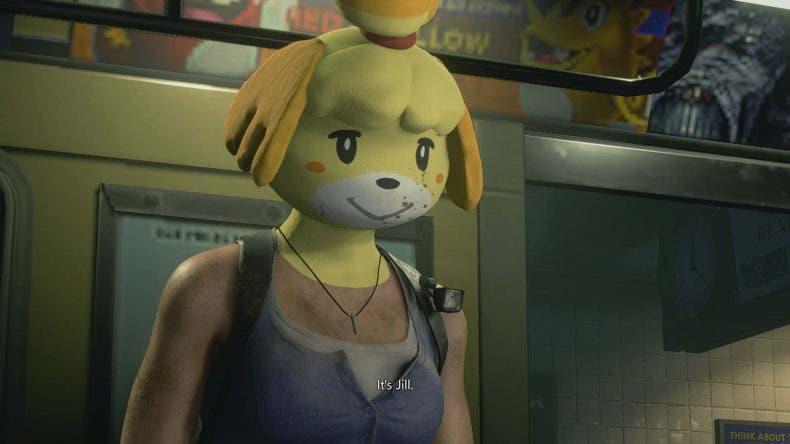 Jill Valentine se transforma en Canela, de animal Crossing, en un divertido mod de Resident Evil 3 Remake