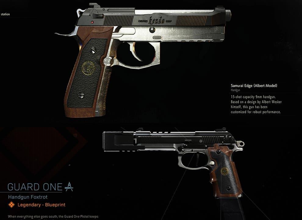 Es esta pistola en Call of Duty Modern Warfare una referencia a Resident Evil