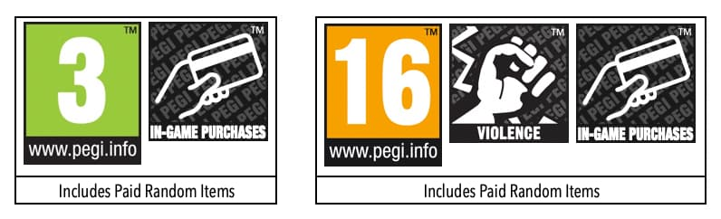 PEGI anuncia una nueva medida para avisar de las lootboxes en los juegos