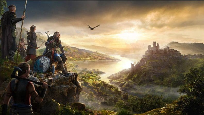 El mapa de Assassin's Creed Valhalla será bastante grande y contará con cuatro reinos principales