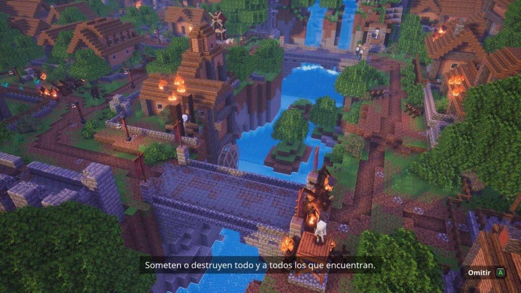 Introducción de misión de Minecraft Dungeons