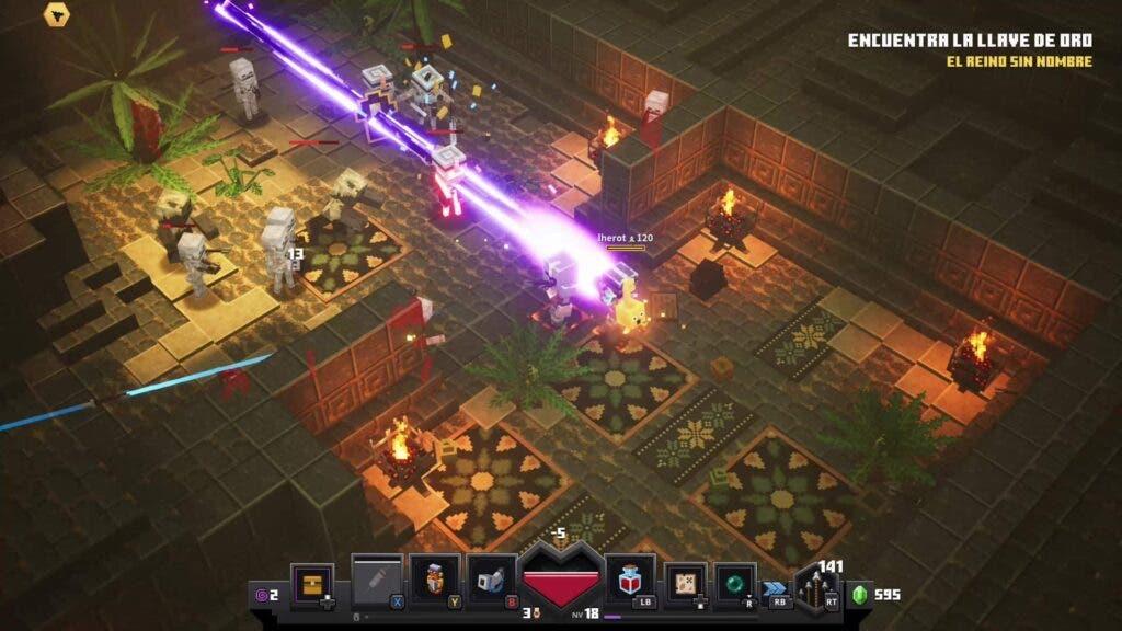 Minecraft Dungeons en cooperativo