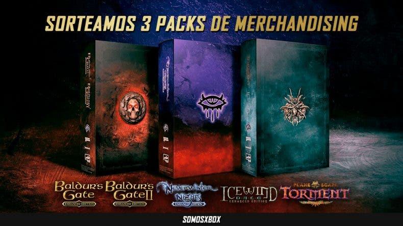 Sorteamos una edicion limitada de merchandising de Neverwinter Nights, Baldur's Gate y Planescape: Torment 1