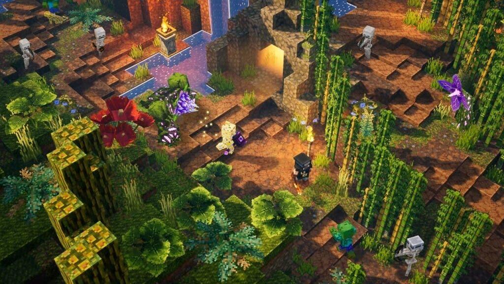 El primer DLC de Minecraft Dungeons llegará este verano y se ambientará en la jungla