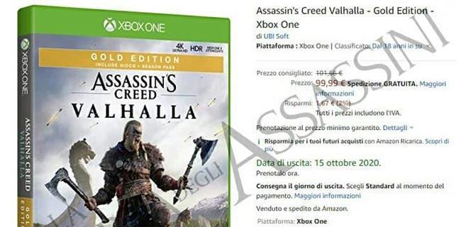 La fecha de lanzamiento de Assassin's Creed Valhalla habría sido filtrada por Amazon 1