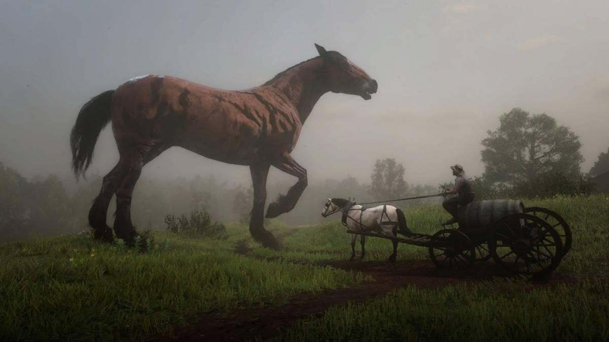 Este mod de Red Dead Redemption 2 permite montar animales gigantes 2