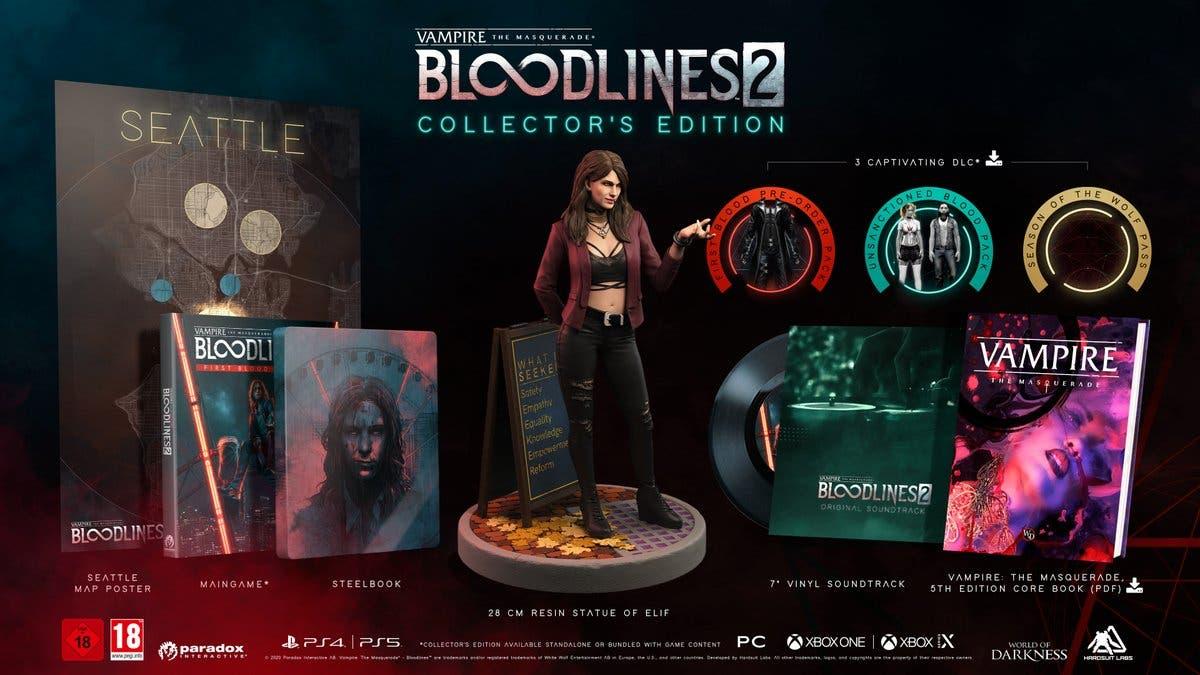 Edición Coleccionista de Vampire The Masquerade Bloodlines 2