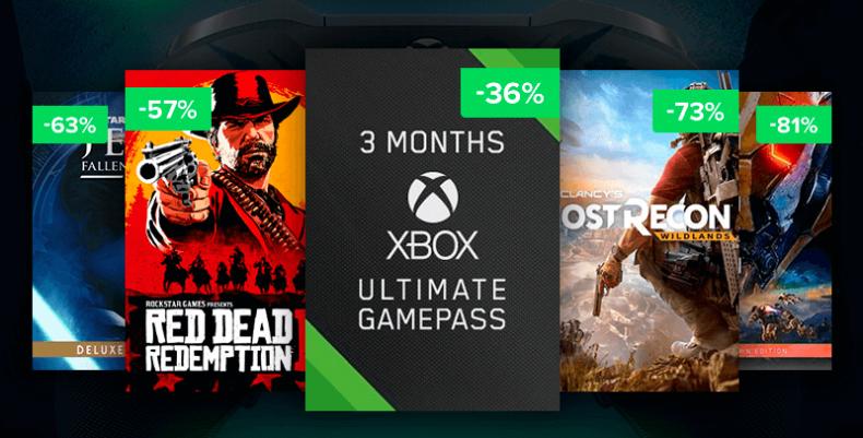 Grandes ofertas de Instant Gaming para Xbox One: Xbox Live Gold, Game Pass y juegos 1