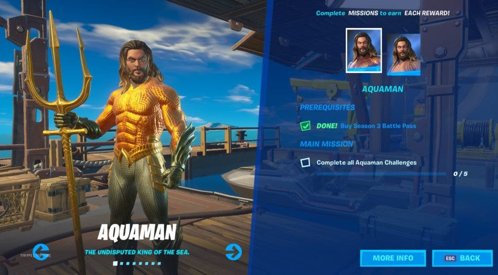 ¿Cómo conseguir Aquaman en Fortnite Temporada 3? 1