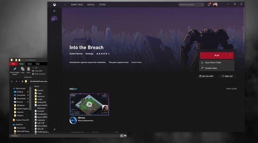 Xbox Store en PC añade soporte para mods 2