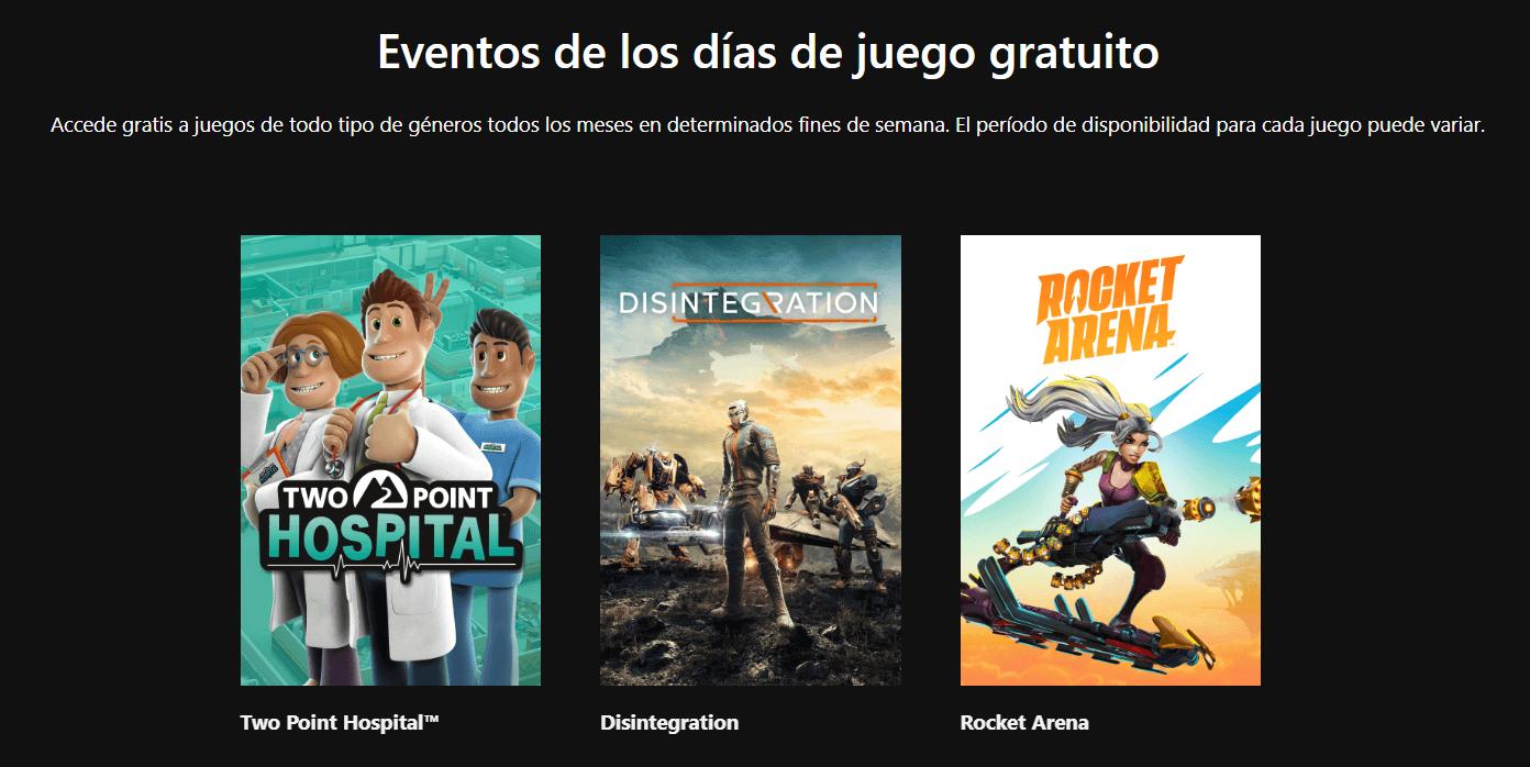 juegos gratuitos para Xbox One gracias a los Free Play Days