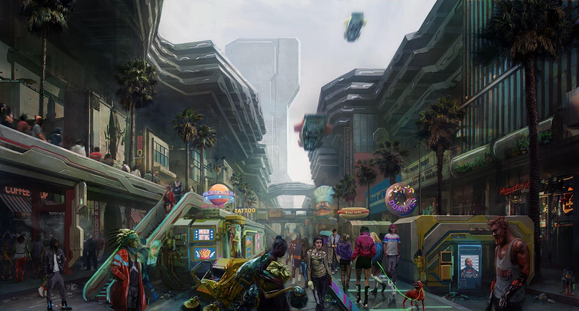 Cyberpunk 2077 nos muestra cómo es el barrio más grande de Night City