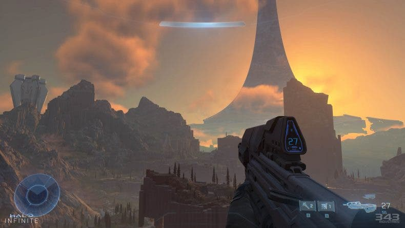 Dos imágenes de Halo Infinite muestran el ciclo día-noche y la iluminación dinámica 1