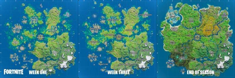 mapa de Fortnite esconde una isla bajo el agua