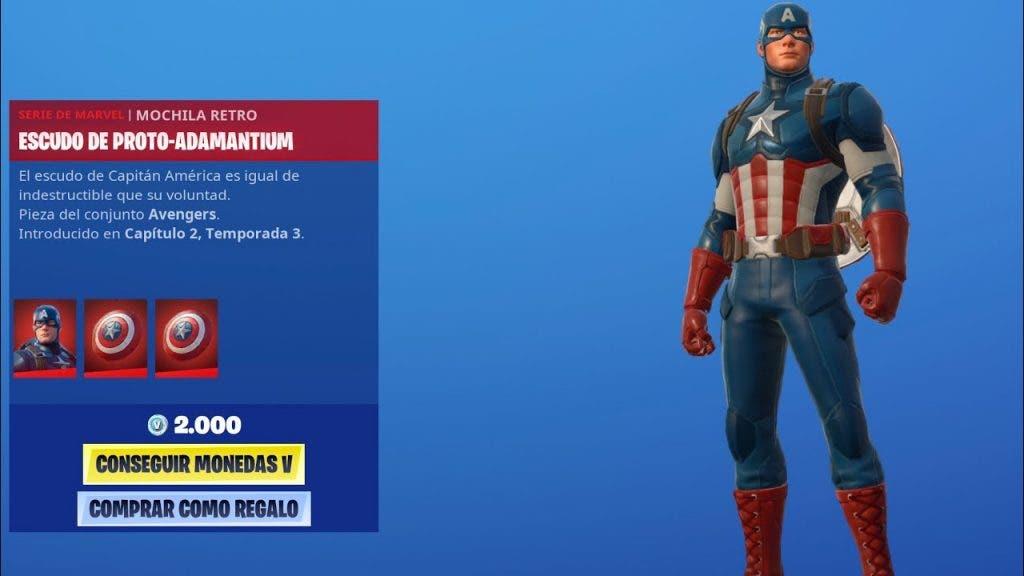 como se consigue al Capitán América en Fortnite