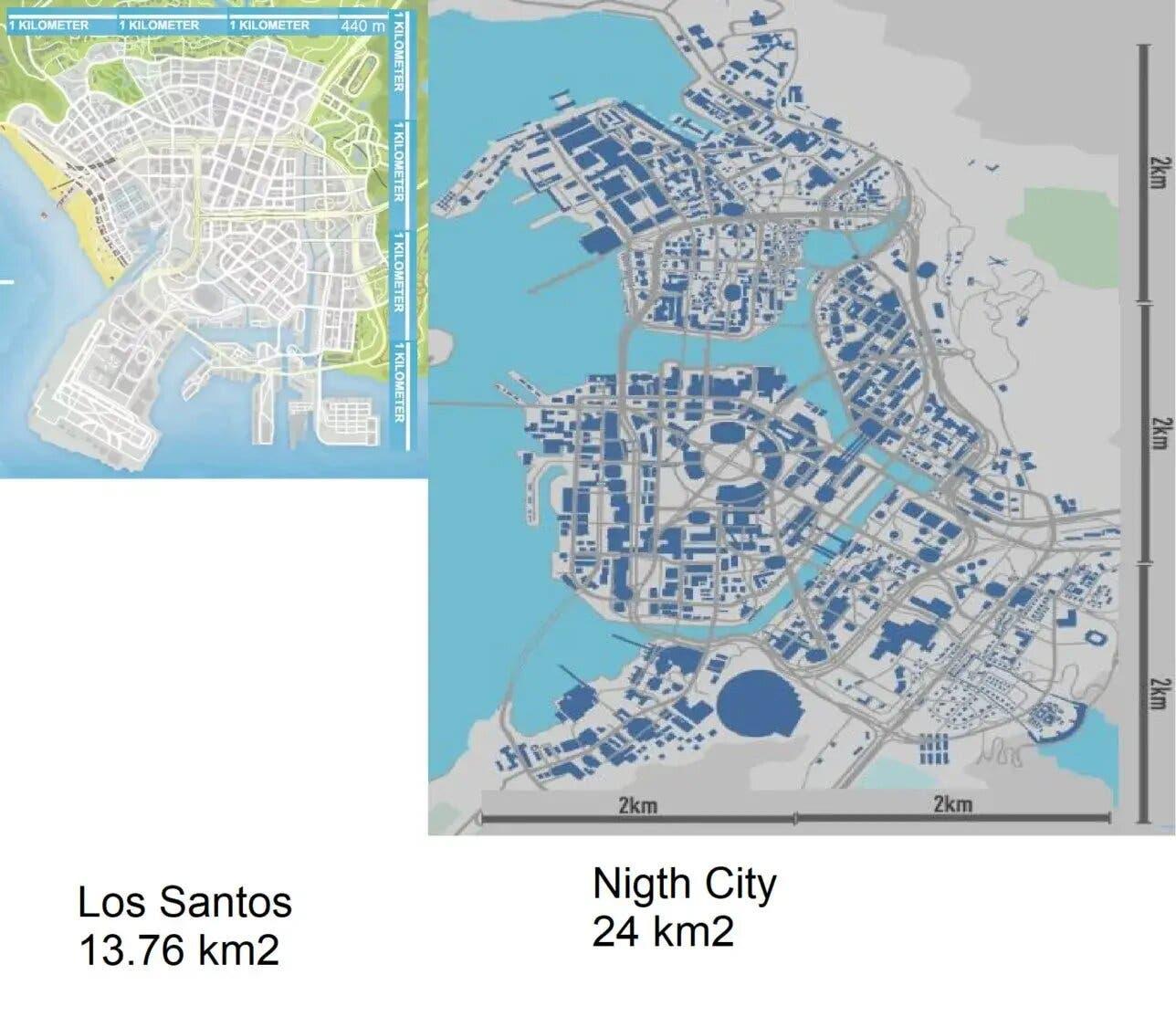 mapa de Cyberpunk 2077 sería mucho más grande que el de GTA V