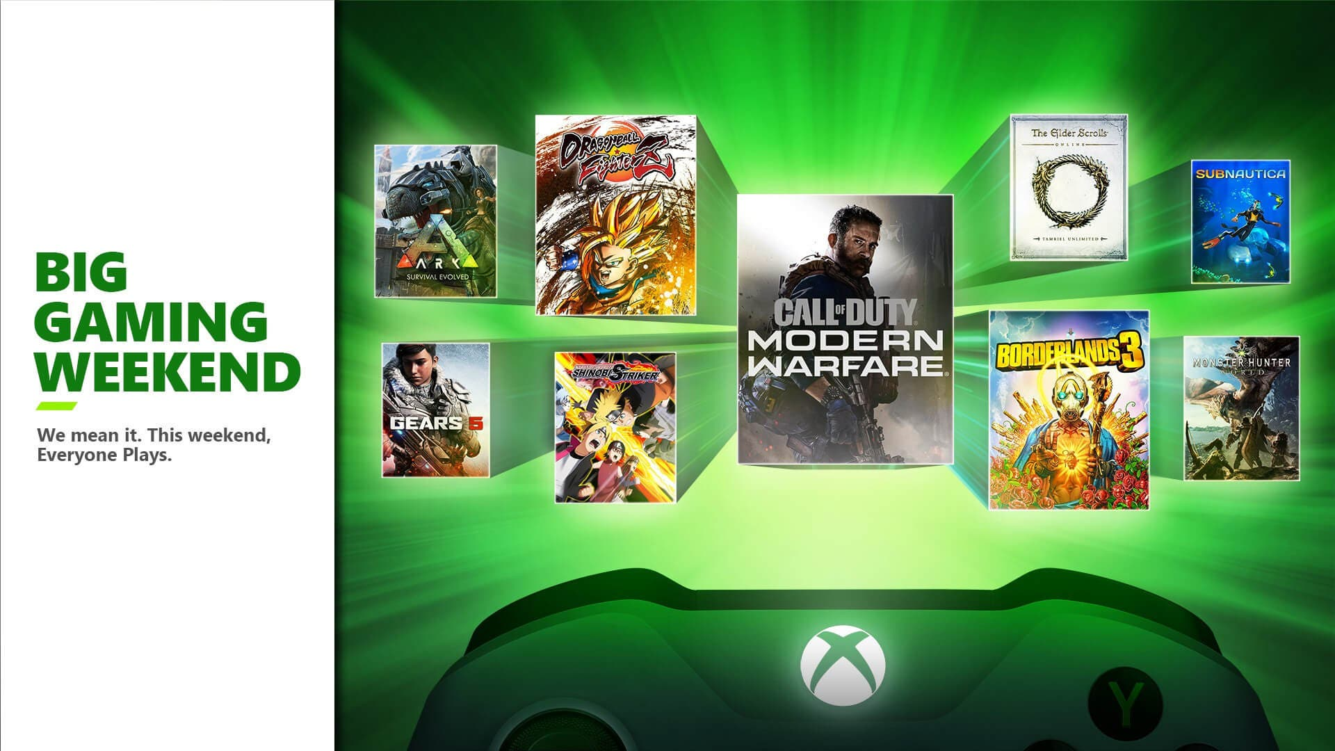 Big Gaming Weekend en Xbox One y PC con 10 juegos gratis sin necesidad de Gold o Game Pass