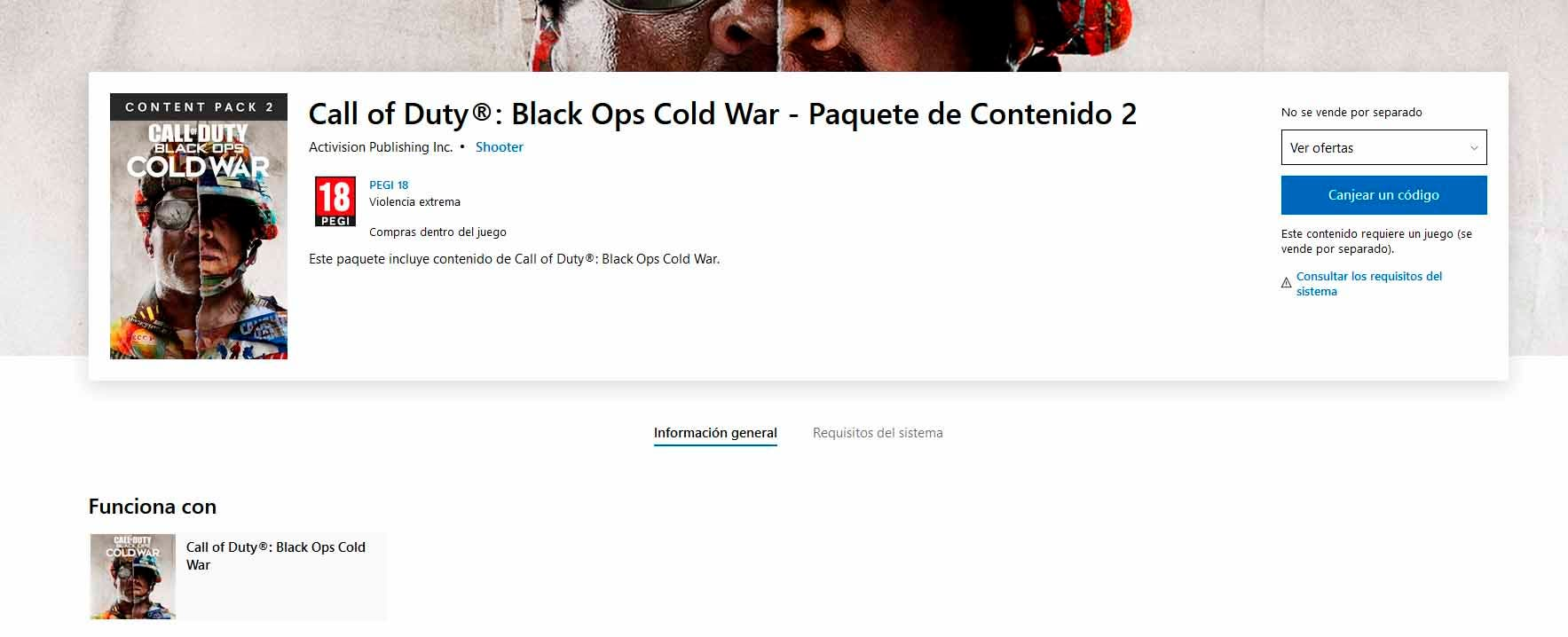 Se descubren varios packs de contenidos de Call of Duty: Black Ops Cold War en la Xbox Store 3