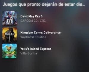 Estos son los juegos que abandonarán Xbox Game Pass en agosto 1