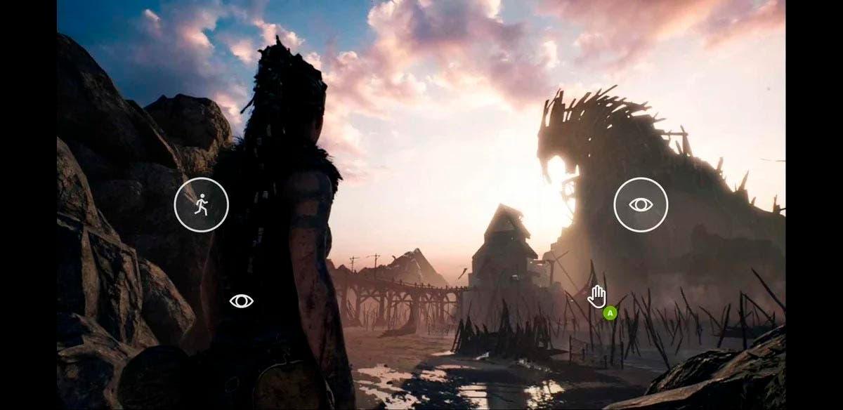 Hellblade: Senua's Sacrifice da soporte a control táctil en xCloud 2