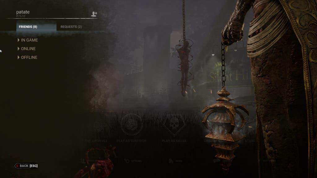Cómo jugar con amigos de otras plataformas en Dead by Daylight 2