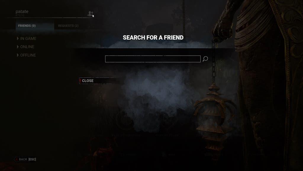 Cómo jugar con amigos de otras plataformas en Dead by Daylight 3