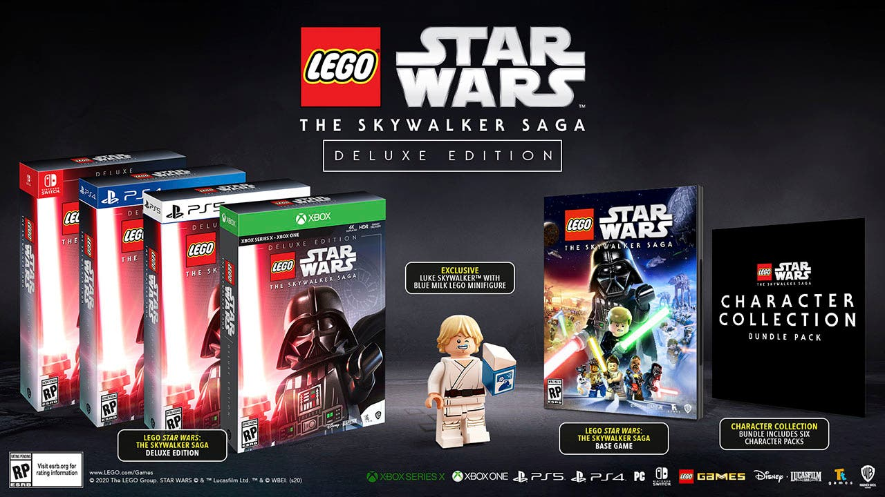 Así de genial es la carátula de LEGO STAR WARS The Skywalker Saga Deluxe Edition