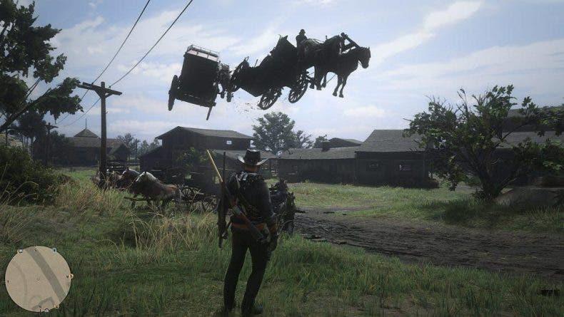 Varios problemas en Red Dead Online están provocando que los caballos vuelen y lluevan caimanes