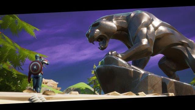 Fortnite rinde homenaje al actor de Black Panther ubicando una estatua en el mapa 2