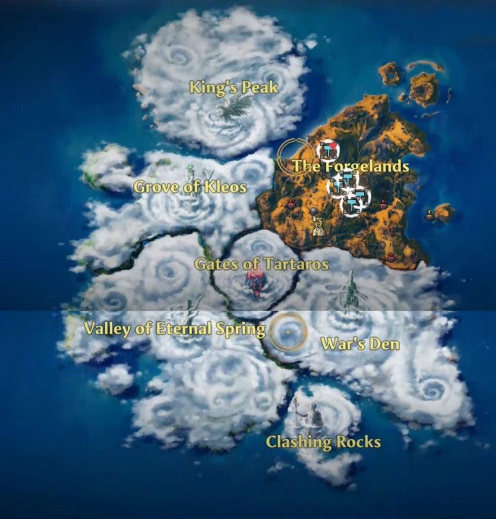mapa de Immortals Fenyx Rising