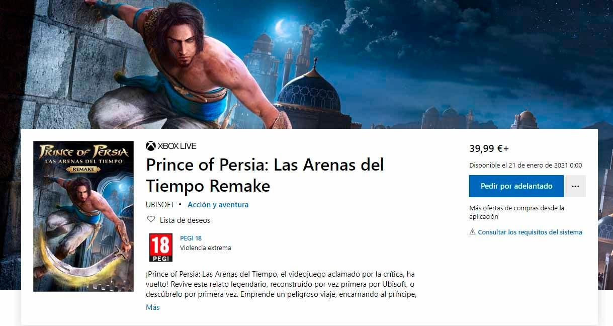 Prince of Persia: Las Arenas del Tiempo Remake llegará a precio reducido a Xbox 2