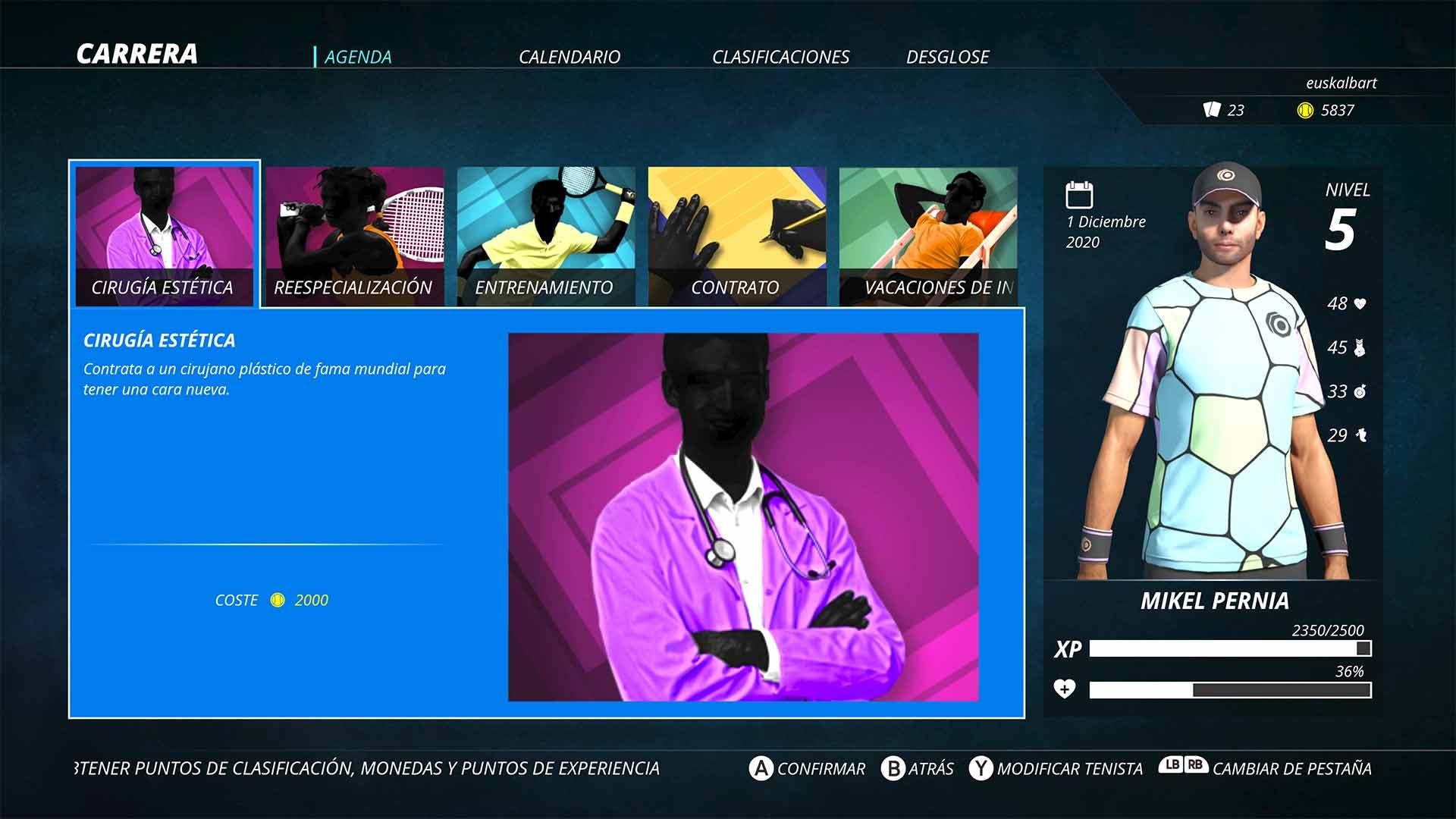 Análisis de World Tennis Tour 2 - Xbox One 4