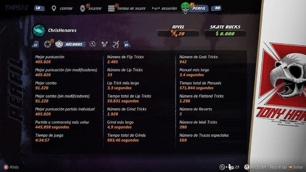 Análisis de Tony Hawk's Pro Skater 1+2 - Xbox One 3