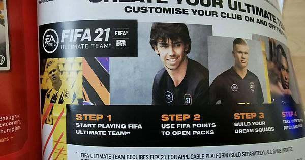 FIFA 21 promociona el uso de microtransacciones en una revista para niños