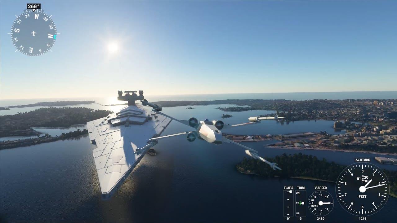 naves de Star Wars en Microsoft Flight Simulator
