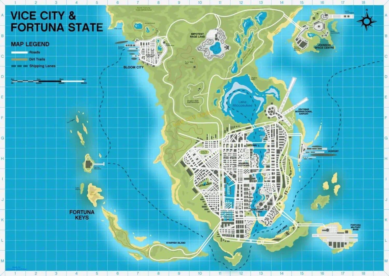 mapa de GTA 6 en Vice City