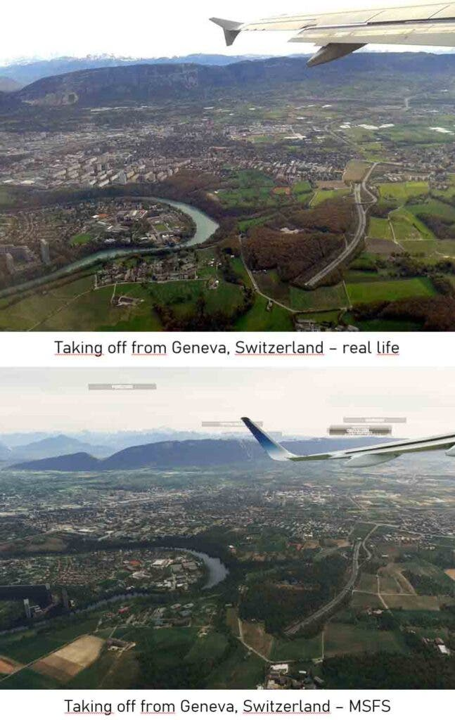 Fans comparan Microsoft Flight Simulator con la vida real
