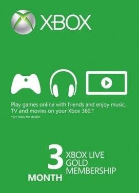 Aprovecha esta oferta de 3 Meses de Xbox Live Gold 2