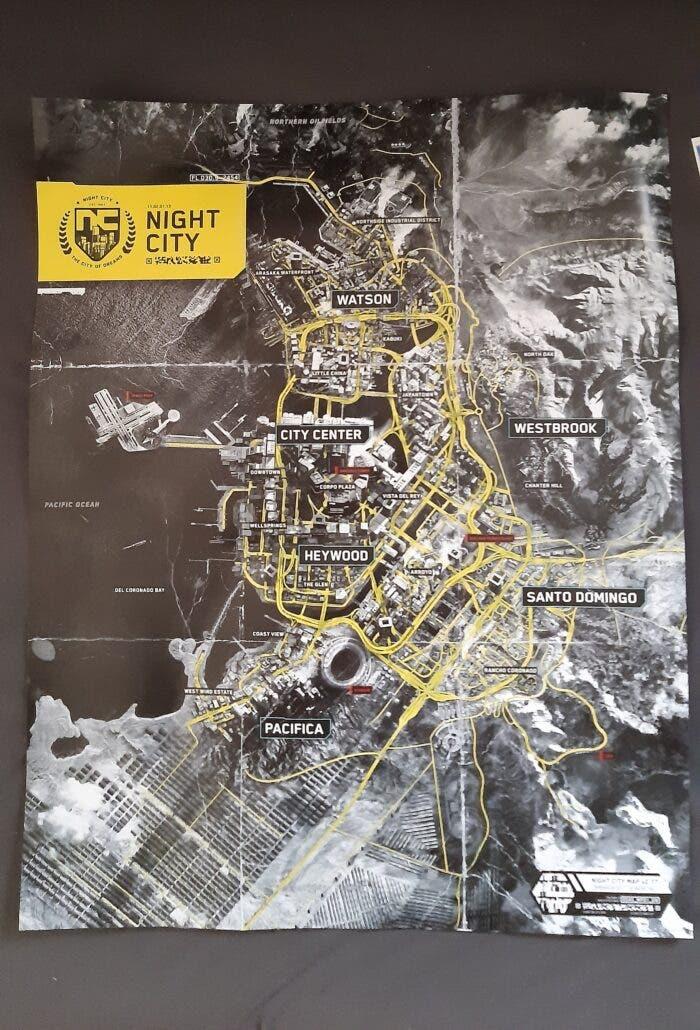 Filtran el mapa completo de Cyberpunk 2077 desde la edición física