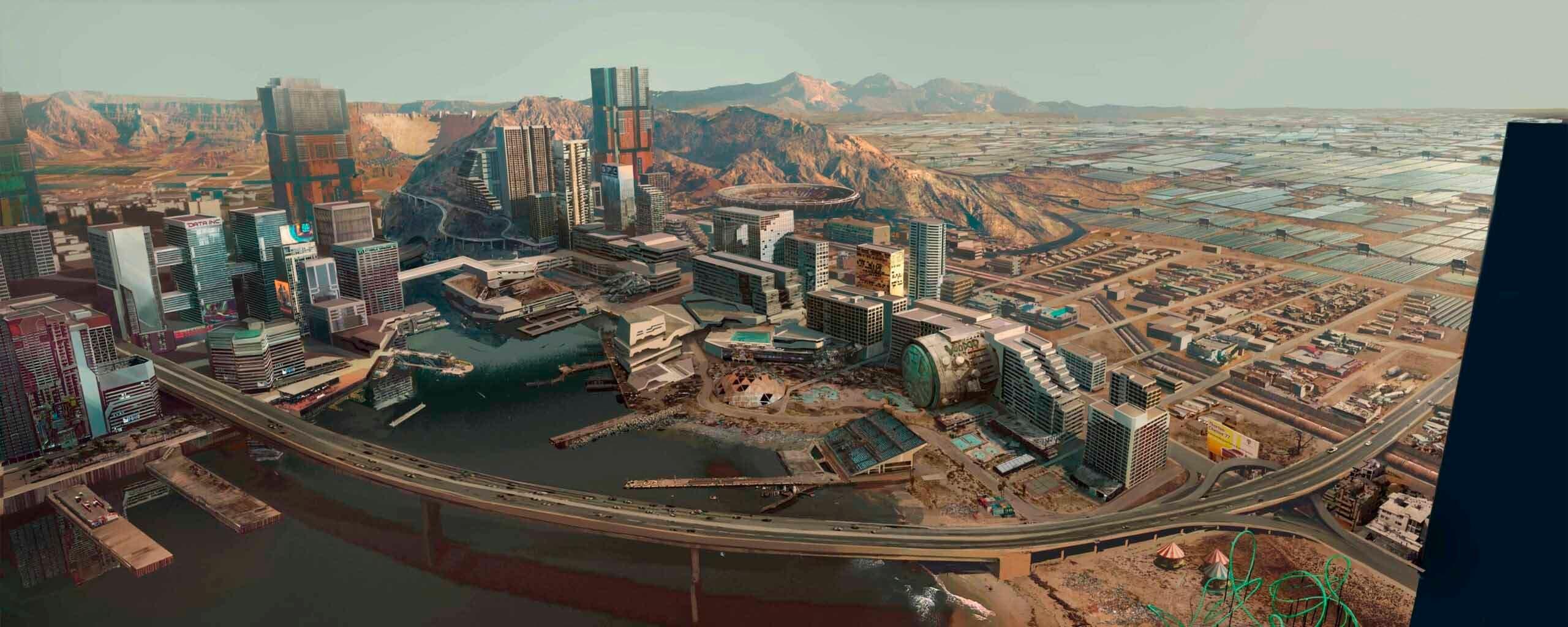 La ciudad de Cyberpunk 2077 protagonista de varias imágenes 3