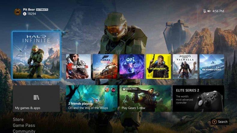 Llega una nueva actualización de Xbox con la interfaz que llevarán Xbox Series X|S 1