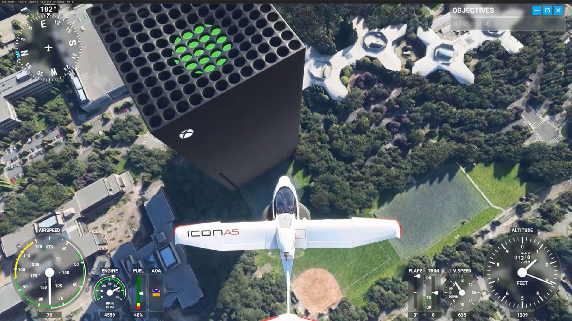 detalles de Microsoft Flight Simulator para Xbox
