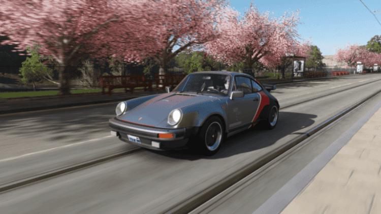 Porsche de Johnny Silverhand en Forza Horizon 4
