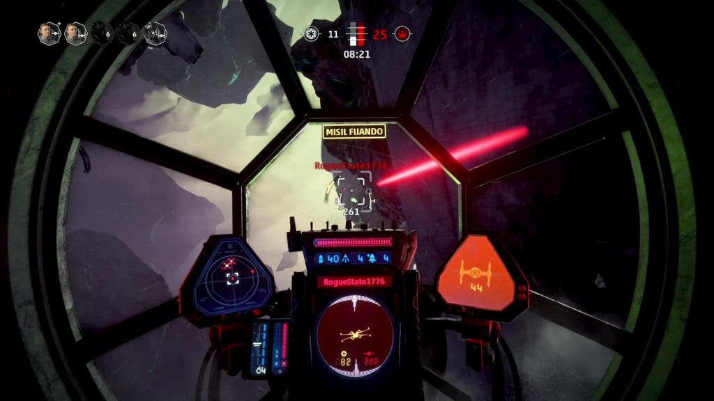 gameplay multijugador star wars squadrons