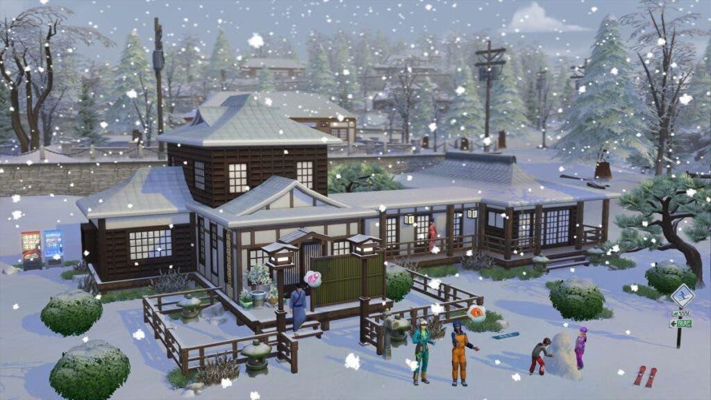 Vacaciones y encanto japonés con Los Sims 4: Escapada en la nieve 3