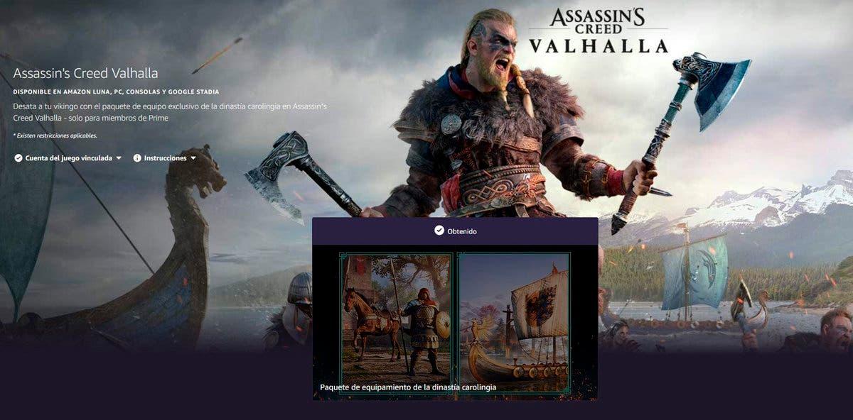 Consigue gratis un paquete de equipo para Assassin's Creed Valhalla