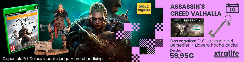 Reserva con xtralife tu pack de Assassin's Creed Valhalla y consigue diferentes regalos. 3
