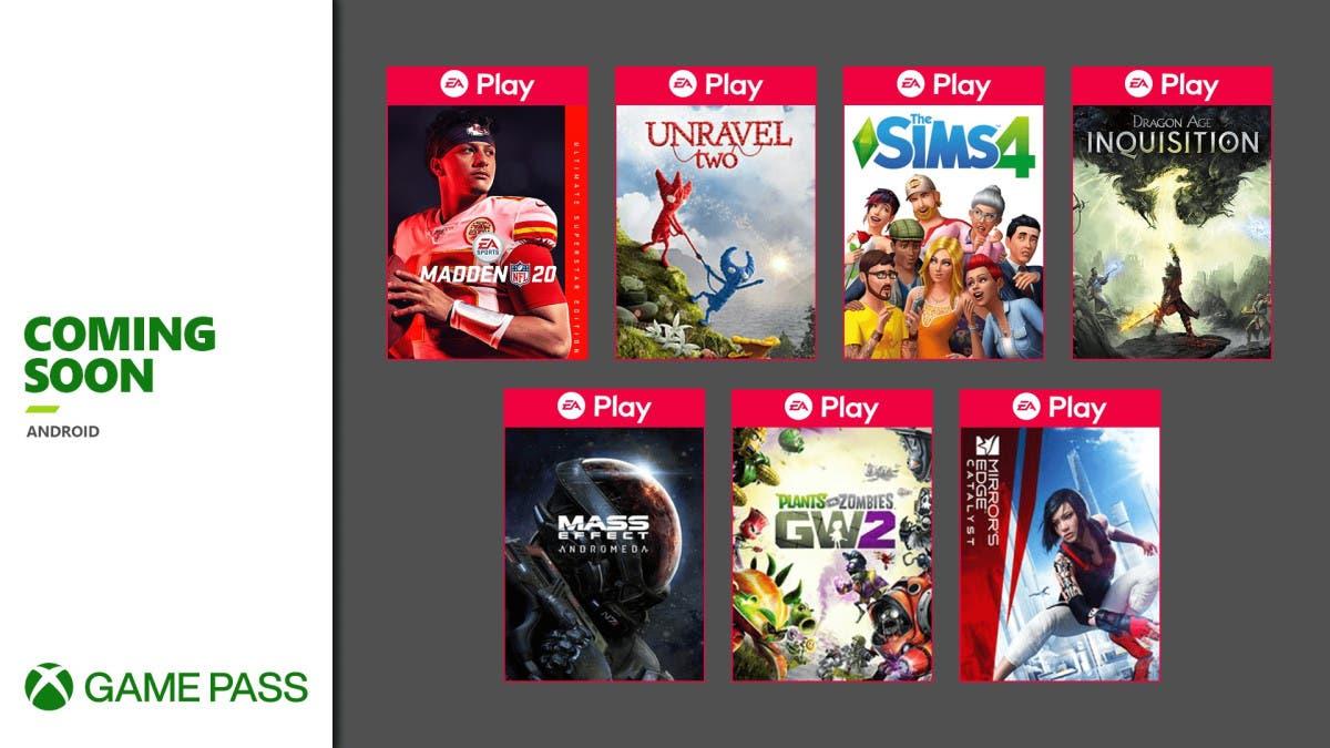 Llegan 7 juegos de EA Play a Xbox Game Pass Android