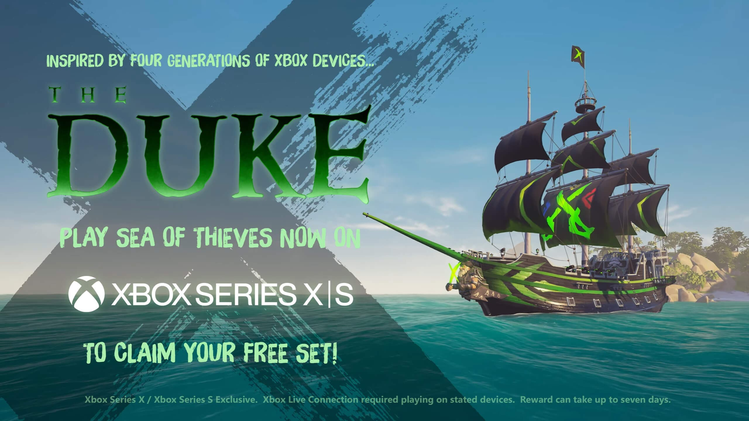 Consigue una skin gratis para tu barco de Sea of Thieves en Xbox Series X|S
